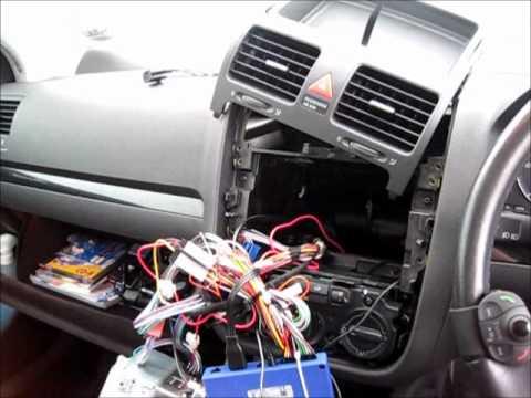 Parrot Mki9000  VW Golf mk V 2007 installation - YouTube