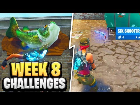 Fortnite Season 6 WEEK 8 CHALLENGES GUIDE! How To Do Week 8 Challenges In Fortnite - Tutorial