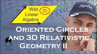 WildLinAlg35: Oriented circles and relativistic geometry II