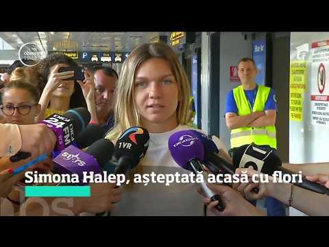 Simona Halep, aşteptată cu flori la întoarcerea în România