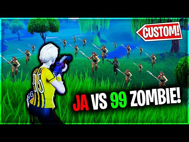 "JA VS 99 WIDZÓW ""ZOMBIE"" W FORTNITE !"