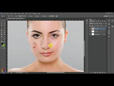 Adobe Photoshop Tutorials For Beginners How to Use Healing Brush Tool Patch Tool Content Aware Tool thumbnail