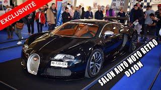 *Exclusivité* - Start up Bugatti veyron sang noir - Coulisses salon auto moto rétro Dijon