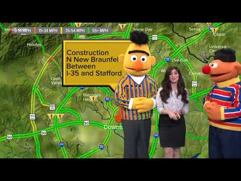 Bert and Ernie do KENS 5 traffic with Niku Kazori