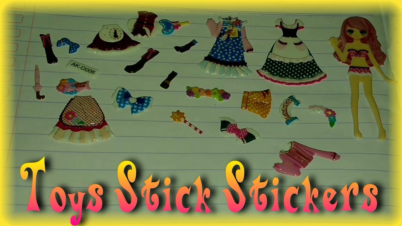 Mainan Anak Menempel Stiker Toys Stick Stickers Cantik Idukasi Nafis Gambar