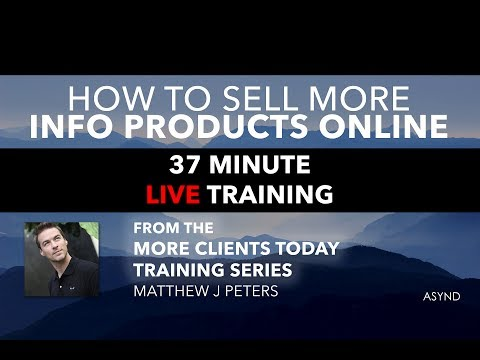 Free Marketing Training: Sell More Information Products Online