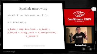CONFidence 2014: Preventing violation of memory safety in C/C++ software - Andreas Bogk