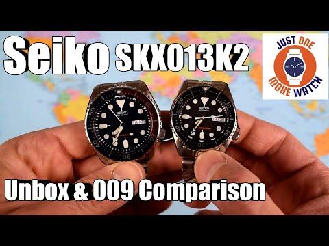Seiko SKX013K2 Unbox and Comparison with SKX009K2 - 동영상
