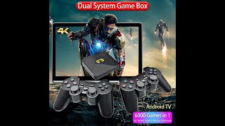 Máy Chơi Game Cầm Tay 4 Nút XS-5600+4K + Android TV Box Player Classic HDMI - CHƠI PSP PS1 FC NES N6
