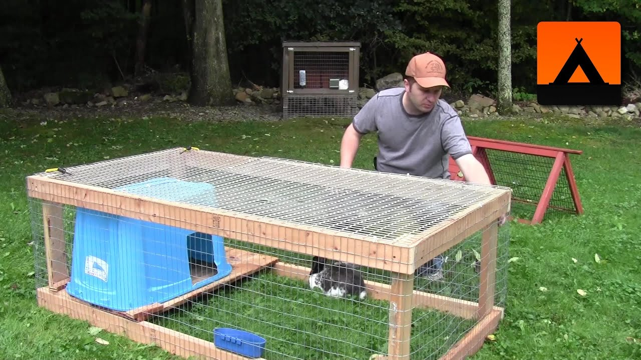 How to build a rabbit hutch cheap and easy youtube - How to make a rabbit cage ...