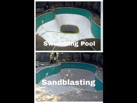 Rhode Island Swimming Pool Sandblasting Services RI, CT, MA (401)884-0692
