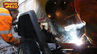 In welke staat is het chassis? Nissan Patrol carrosserie demonteren! #154