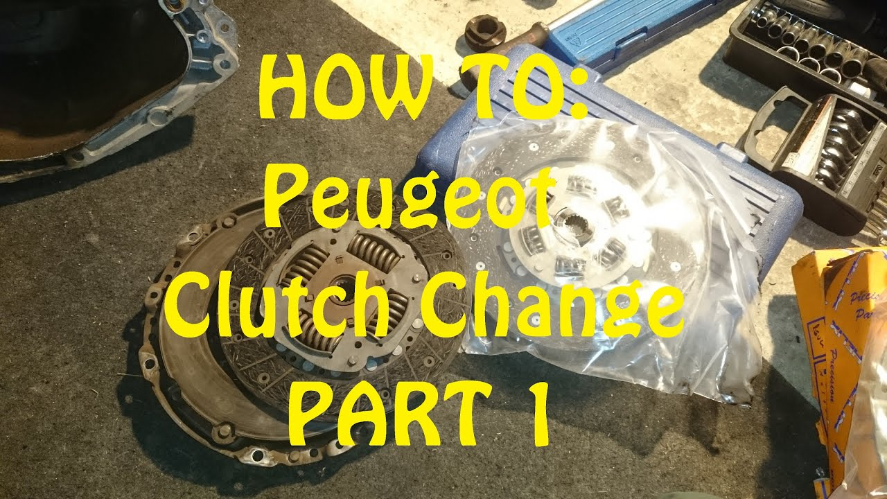 How To Peugeot Hdi Clutch Change Part 1 Youtube