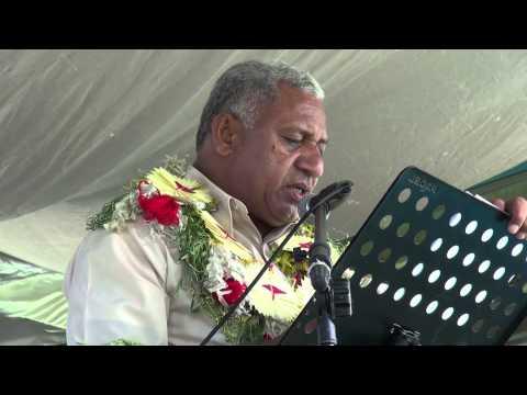 Fijian Prime Minister Voreqe Bainimarama opens Rotuma Day 2014