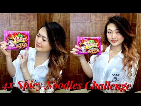 4x Spicy Mala Fire Noodle Challenge 🌶 🔥 Philippines  Valerie Cruz