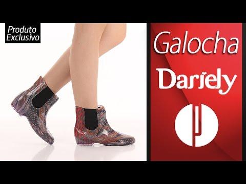 bda12178dd6 Galocha Dariely 364 - Estampado - 6010388207 - YouTube