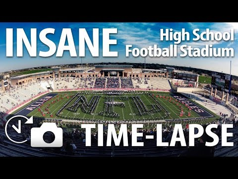Texas vs. the Nation - College Football Time-lapse - Allen High School Eagle Stadium