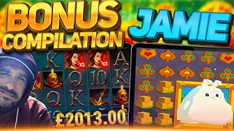 JAMIES BIG SLOTS BONUS COMPILATION! He's back but better than before?