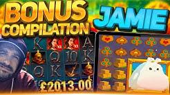 JAMIES BIG SLOTS BONUS COMPILATION! He's back but better than before?