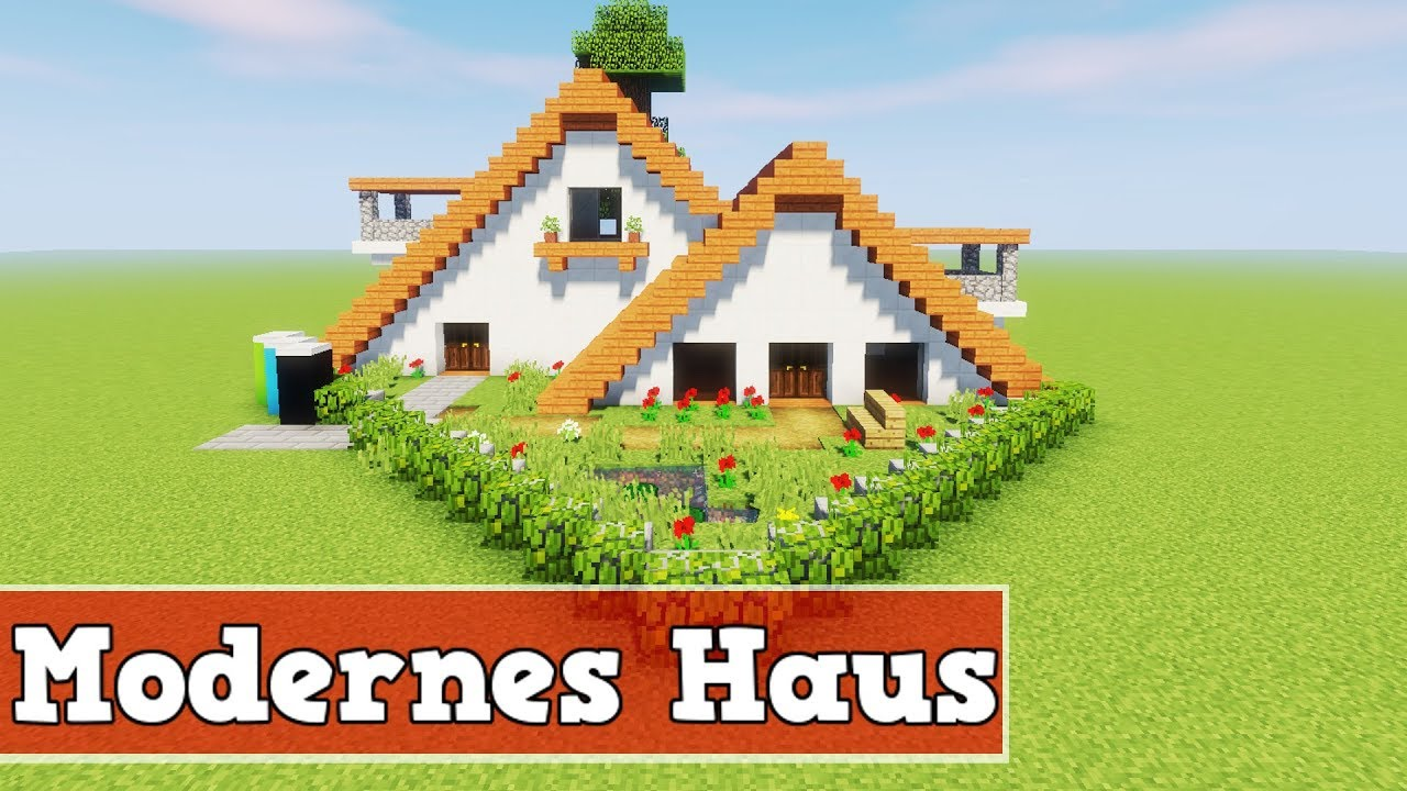 wie baut man ein modernes haus in minecraft minecraft. Black Bedroom Furniture Sets. Home Design Ideas