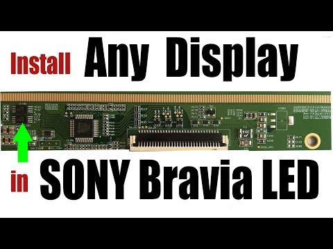 SONY BRAVIA LED Display Changing Technique