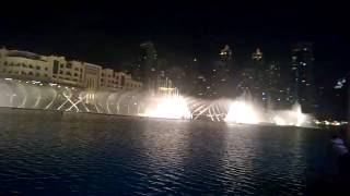 Dubai dancing fountain 'I will always love you'