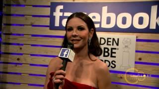 Catherine Zeta Jones Golden Globes 2015 Red Carpet Facebook Interview