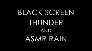 THUNDER and RAIN Sounds for Sleeping BLACK SCREEN • Sleep Relaxation • Dark Screen Nature Sounds 🍀
