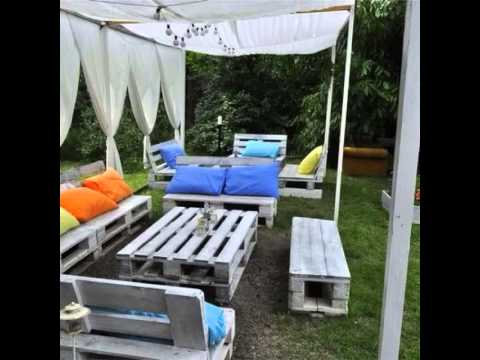 5 video palets jard n y terraza youtube - Como disenar una terraza jardin ...