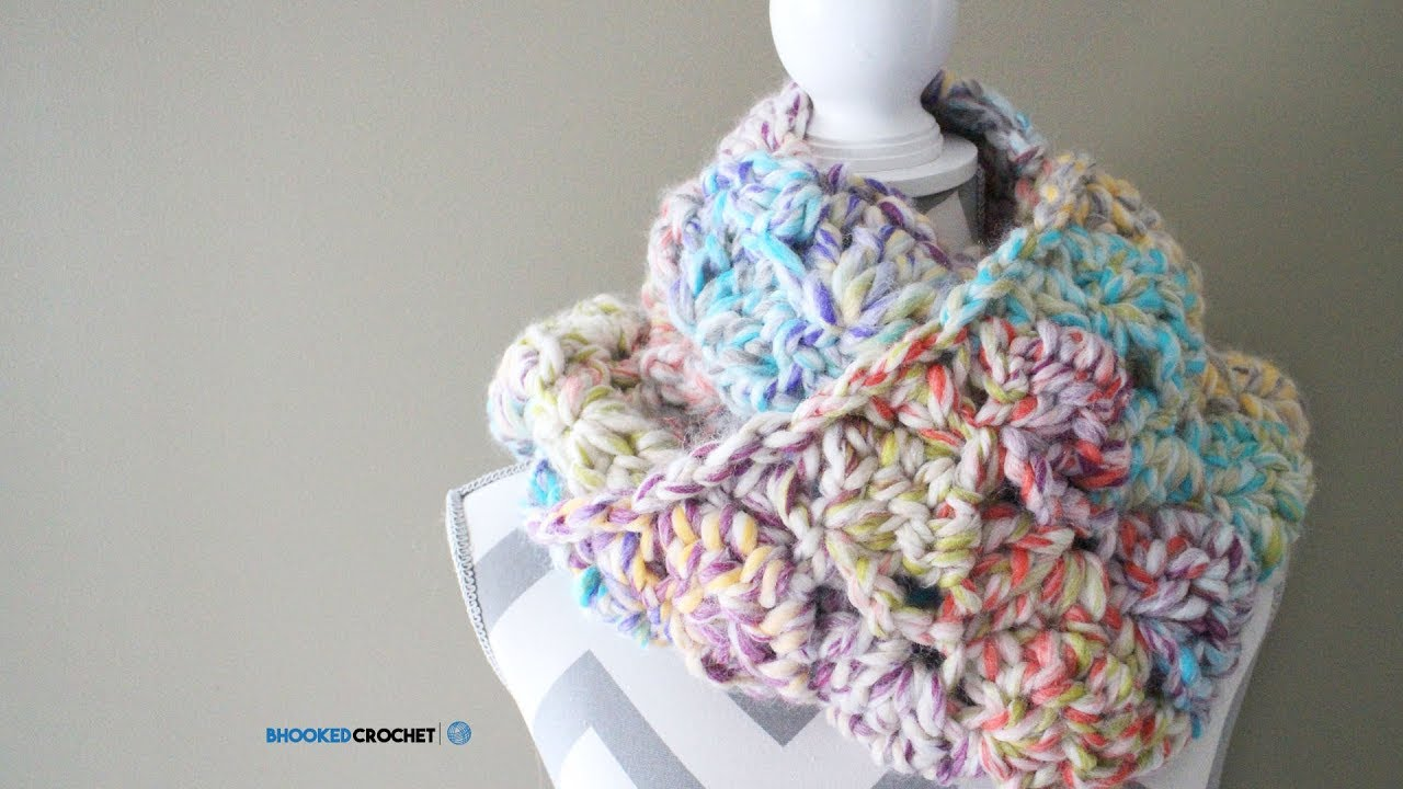 Easy Crochet Scarf - Snuggle Up Scarf Pattern by Red Heart - YouTube