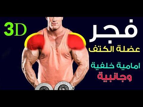 تمارين تكوير الكتف استهداف عضلات كتف امامية وخلفية وجانبية لتضخيم تعريض وتكوير