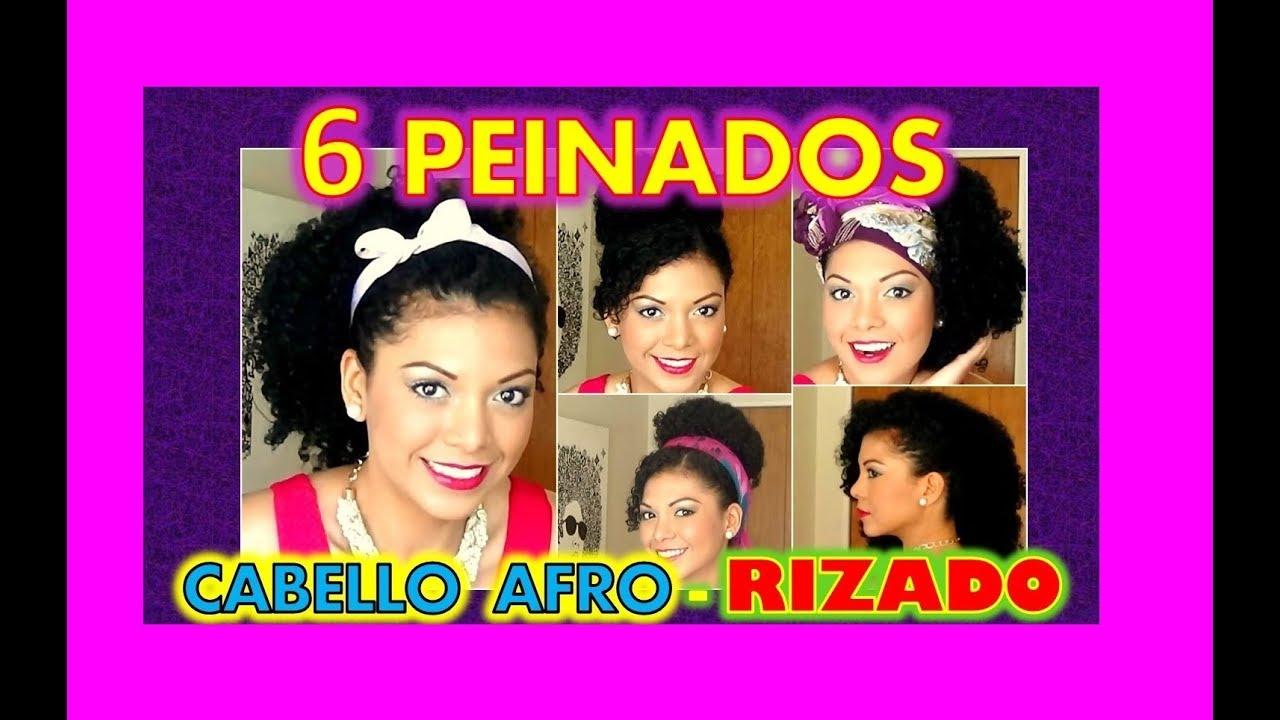 Peinados Para Cabello Rizado Afro 🔴 6 Peinados Faciles