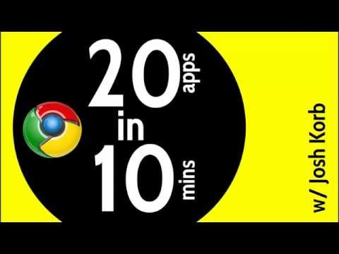20 Chromebook Apps for Education in 10 Minutes