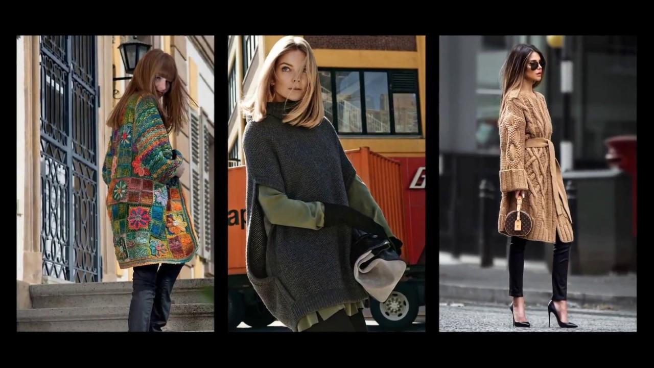 Модели вязания.Вязаная уличная мода для прохладных дней