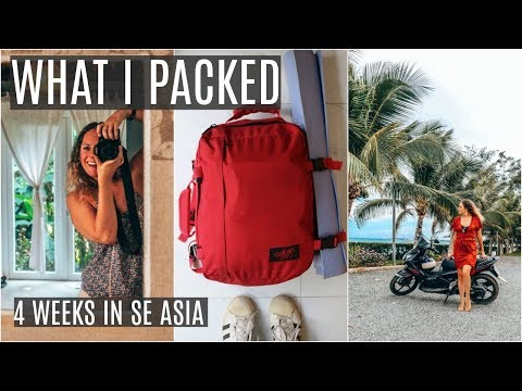 WHAT I PACKED FOR 1 MONTH IN VIETNAM