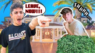Sneaking Into FaZe Rug's MANSION... **caught**