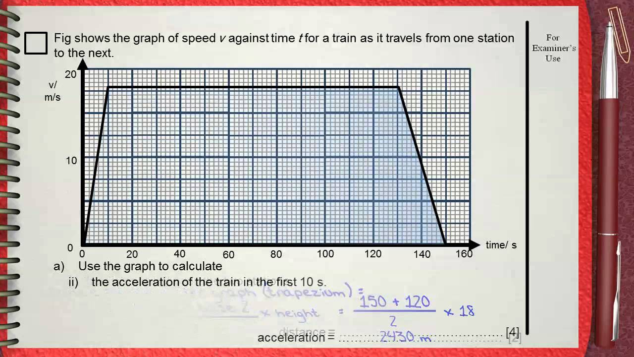 Q7 Ch1 Mechanics L1 Kinematics (speed time graph) IGCSE past papers ...