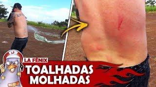 DESAFIO DO JOGO DO BILHÃO COM TOALHADAS MOLHADAS