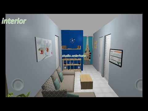 hook house plan 9 x 12 meter, 3 + 1 bedroom