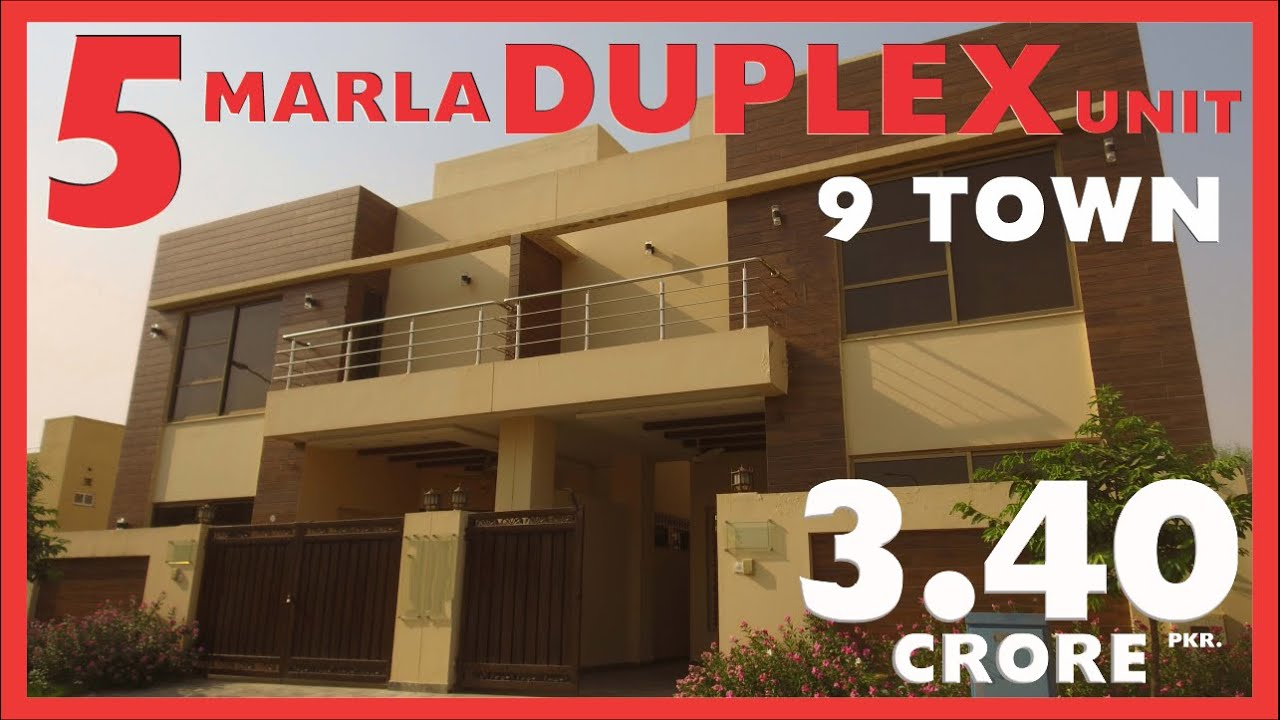 DHA LAHORE: 5 MARLA HOUSE DOUBLE  FOR SALE IN 9 TOWN PRICE 3.40 CRORE