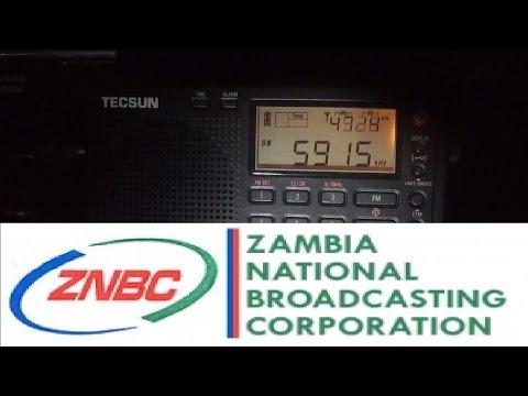 Tecsun PL-310ET first test: Zambia NBC Radio 1, 5915 kHz, Lusaka