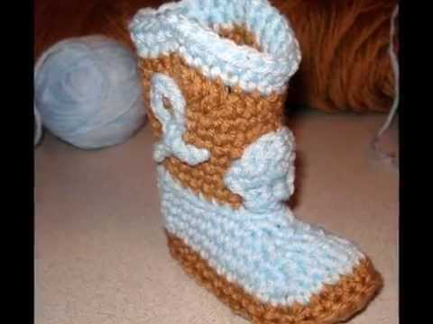 Crochet Cowboy Boots Youtube
