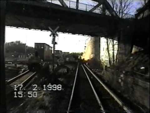 Führerstandsfahrt S-Bahn Berlin: S1 Wittenau - Friedrichstraße - Schöneberg  (Februar 1998)