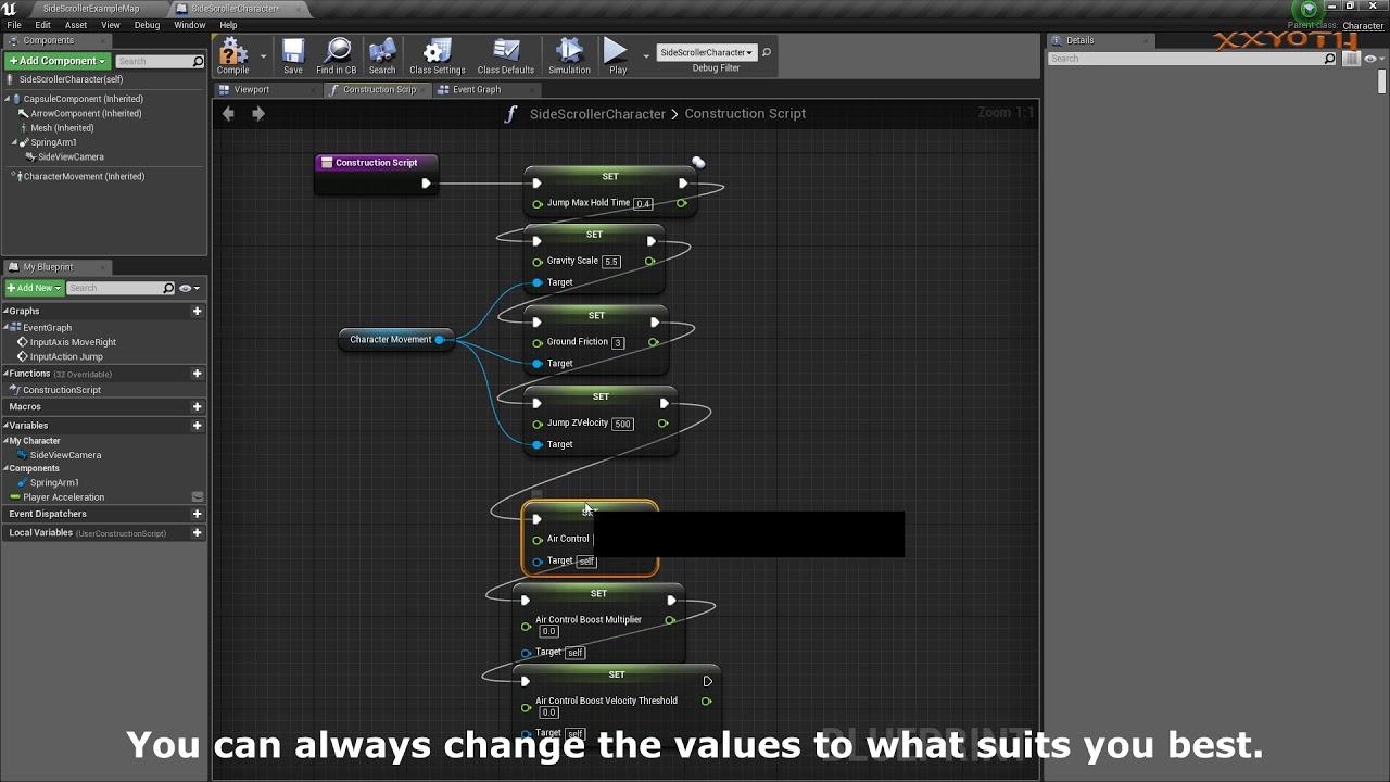 UE4 Beginner Mega Man X Mechanics Tutorial Part 1: changing values