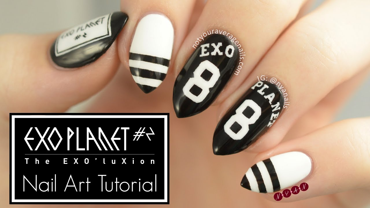 EXO\'luXion Nail Art Tutorial - YouTube