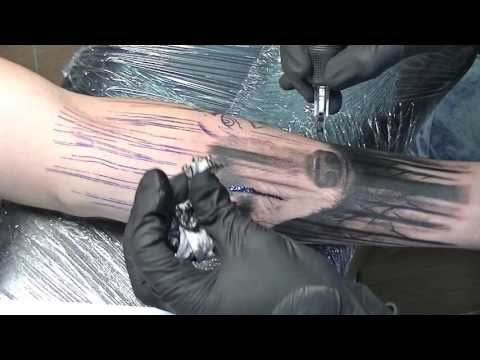 The Big Bad Wolf - tattoo time lapse