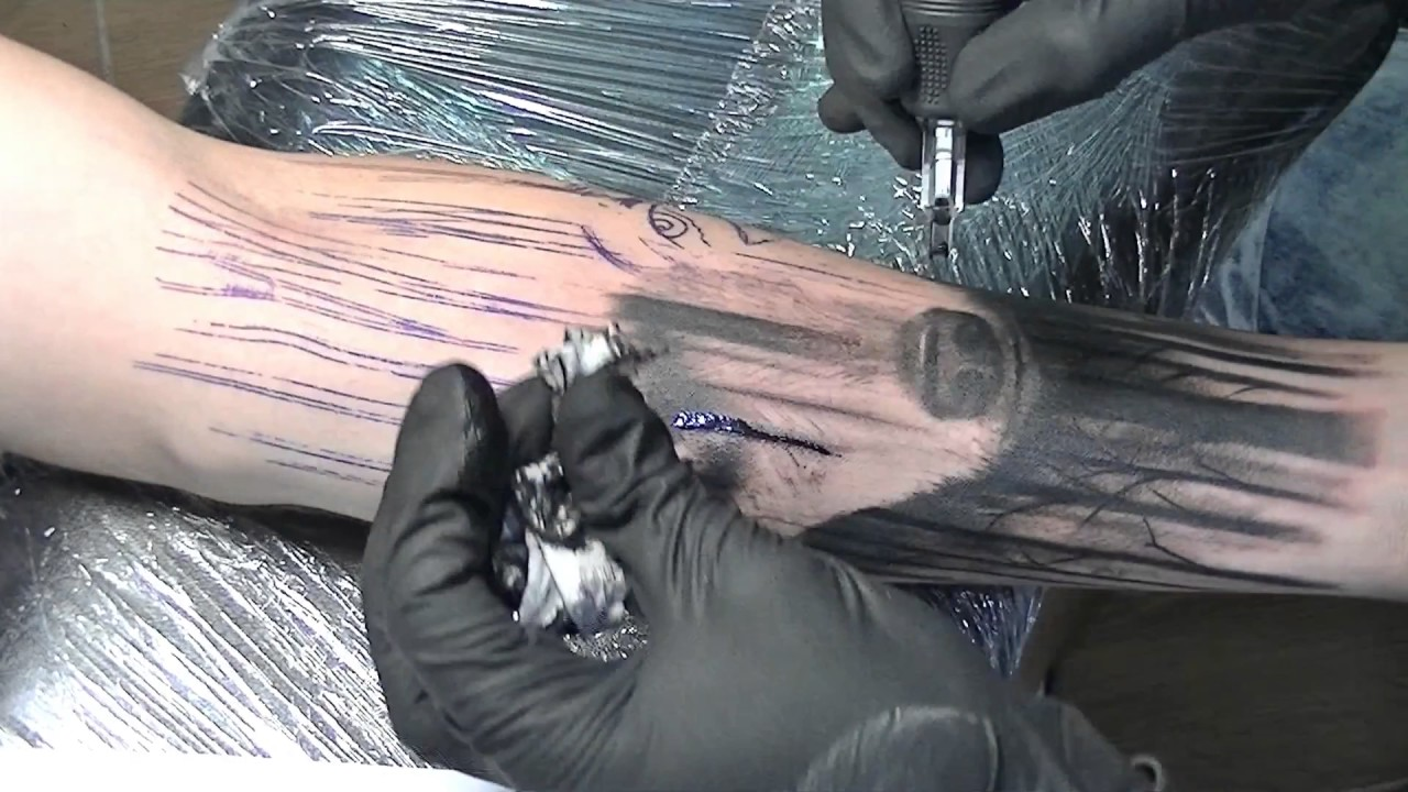 The Big Bad Wolf Tattoo Time Lapse Youtube