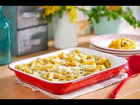 gratins-de-pâtes-à-la-fondue-de-poireaux-et-moutarde-à-l'ancienne-avec-jardin-bio