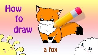 How To Draw a Cute Fox ^_^