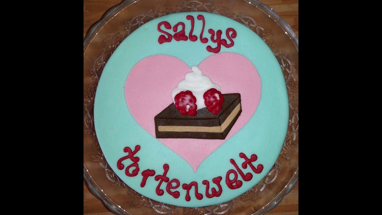 Sallys Zitronentorte mit Fondant  Fondanttorte  YouTube